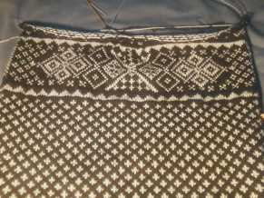 knitting done sweater